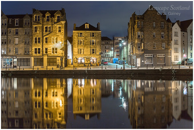 Early morning reflections at the Shore, Leith (1)