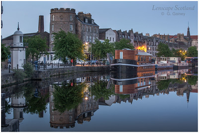 Morning twilight reflections at the Shore, Leith 4