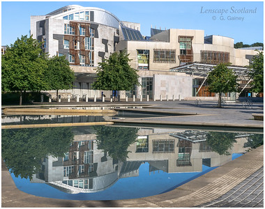 Scottish Parliament reflection