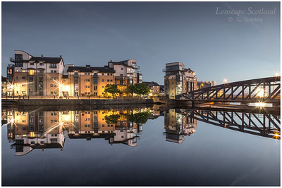 Morning twilight reflections at the Shore, Leith 3