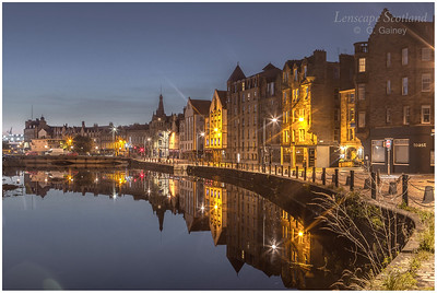 Morning twilight reflections at the Shore, Leith 1