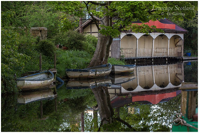 Union Canal reflections - Merchiston boathouse