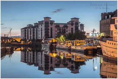 Morning twilight reflections at the Shore, Leith 2