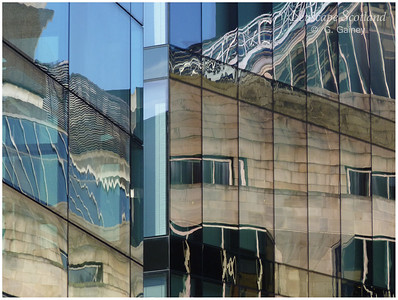 Office reflections, Leith Street