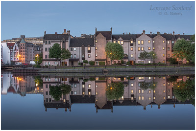 Morning twilight reflections at the Shore, Leith 6