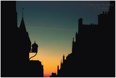 Canongate Tolbooth dawn silhouette