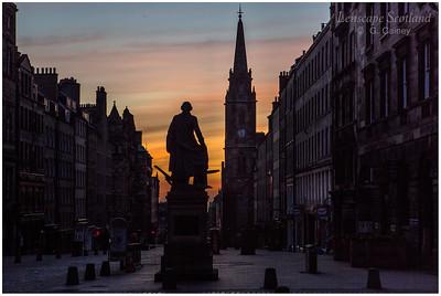 Dawn twilight on the High Street