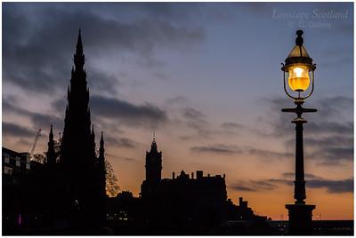 Princes Street dawn silhouette