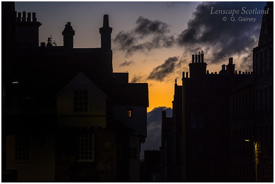 High Street chimneys and roofs at dawn (1)