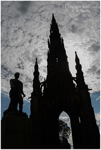 Scott Monument and David Livingstone statue from East Princes Street Gardens