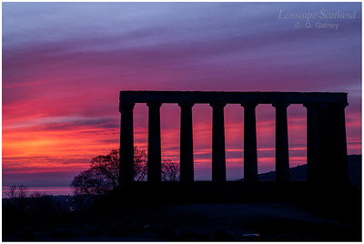 Calton Hill - the National Monument at dawn (2)