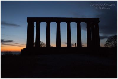 Calton Hill - the National Monument at dawn (1)