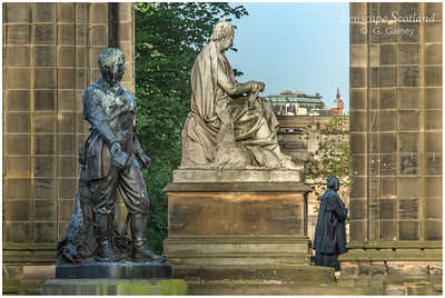David Livingstone, Sir Walter Scott and Adam Black statues, East Princes Street Gardens
