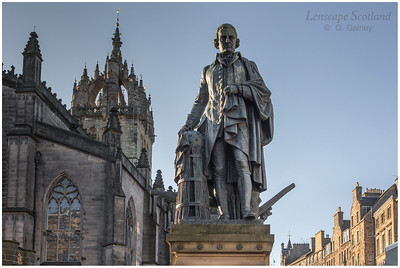 Adam Smith statue, High Street (1)