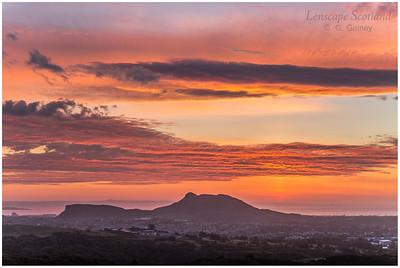 Sunrise over Arthur's Seat from Braid Hills (1)