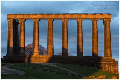 National Monument, Calton Hill, catching the late evening sun