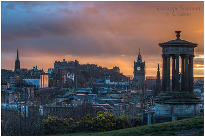 Late evening light over Edinburgh, from Calton Hill