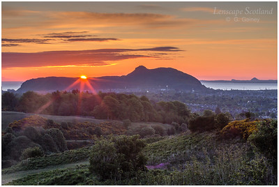 Sunrise over Arthur's Seat from Wester Craiglockhart Hill
