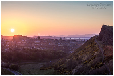 Sunset over Edinburgh Castle and Salisbury Crags (3)