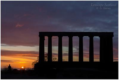 Calton Hill sunrise