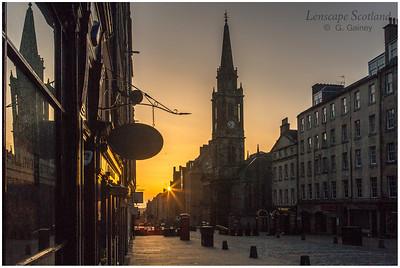 Easter Sunday sunrise on the Royal Mile