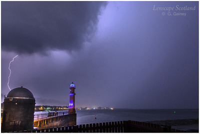 Lightning storm over Newhaven