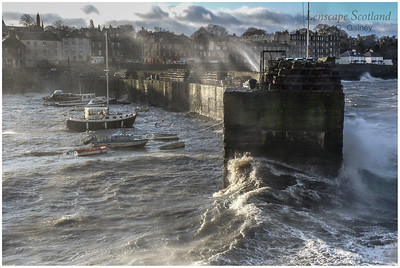Newhaven harbour in stormy weather (2)