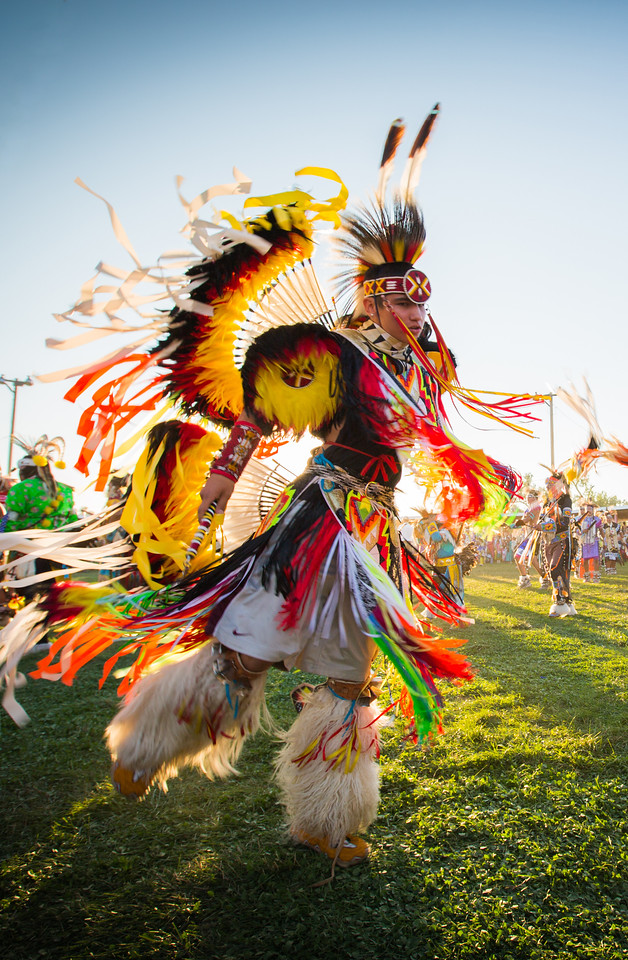 Opening ceremony parade at Crow Fair