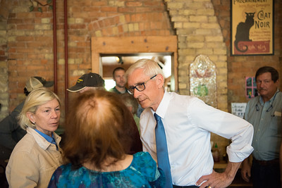 Tony Evers   Janet Bewely