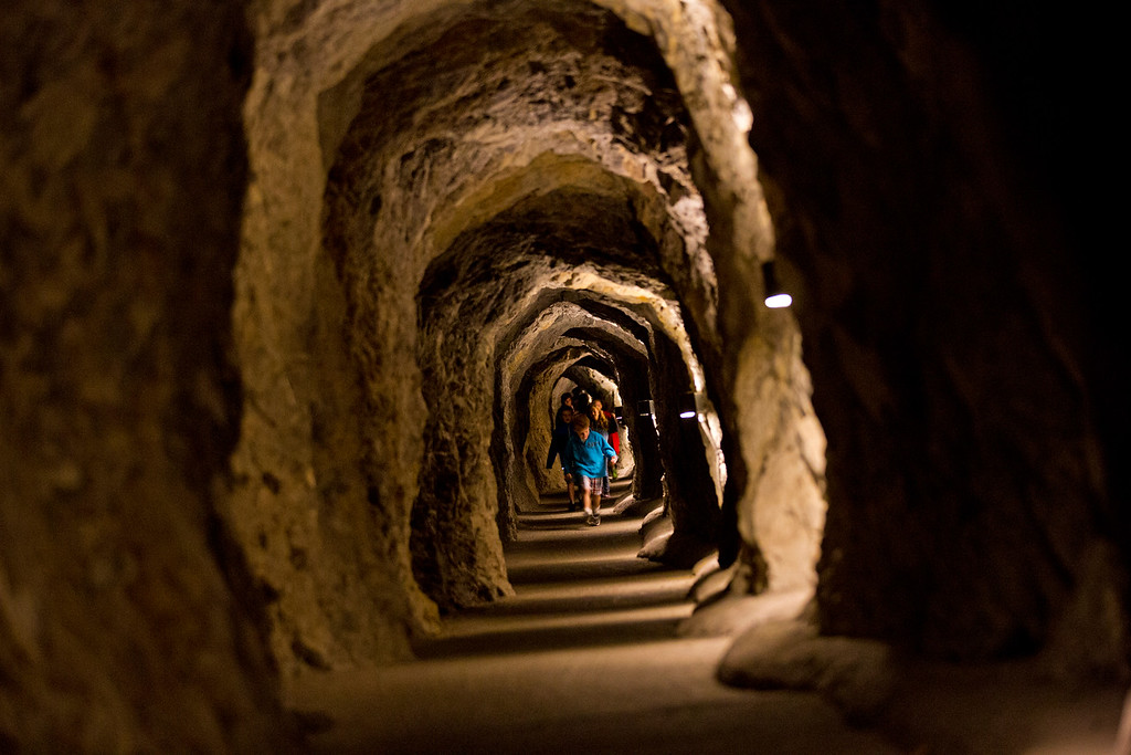 Exit tunnel at Lewis and Clark Caverns State Park