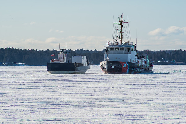 Two Ships Passing in the Ice