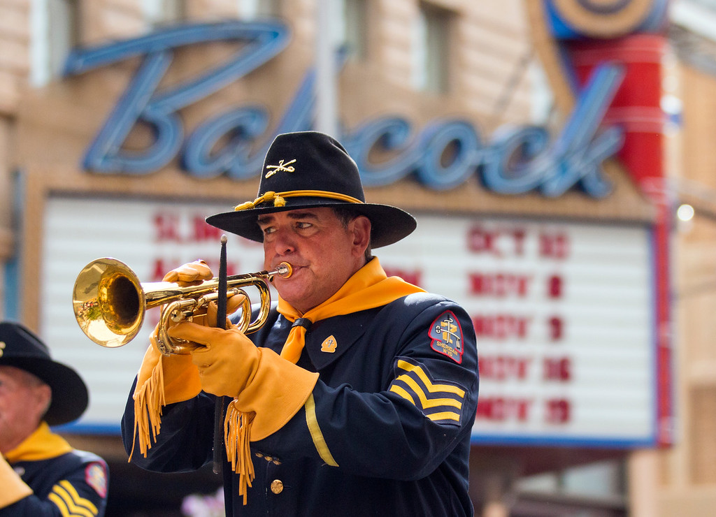 7th Cavalry Drum and Bugle Corps bugler