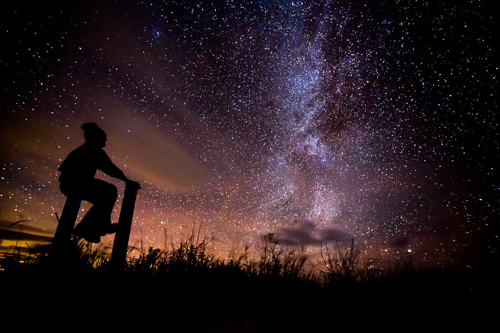 Self-portrait beneath the Milky Way
