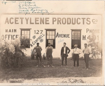 Personnel of the Acetylene Products Co. - Sept 1924