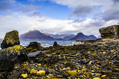 View from Elgol over Loch Scavaig to the Cuillin Mountains