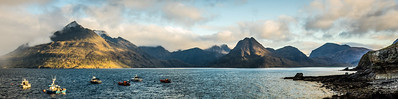 View from Elgol on to Loch Scavaig and the Cuillin Mountains, Isle of Skye, Scotland
