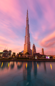 Naturally illuminated Burj Khalifa