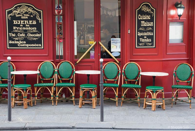 Cafe near our hotel in Le Marais