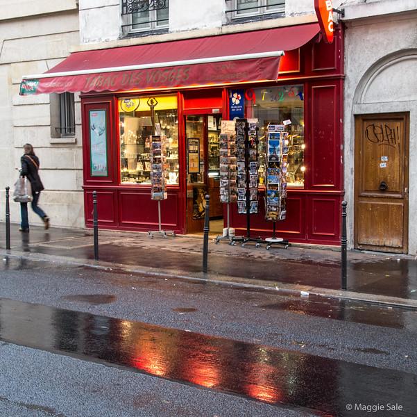 Rain on our last afternoon, Le Marais