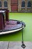 Green duckweed on the canal near Paddington Basin