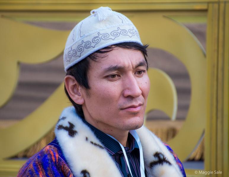 Kazak man looking thoughtful