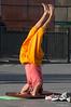 Yoga pose at Pompidou Centre