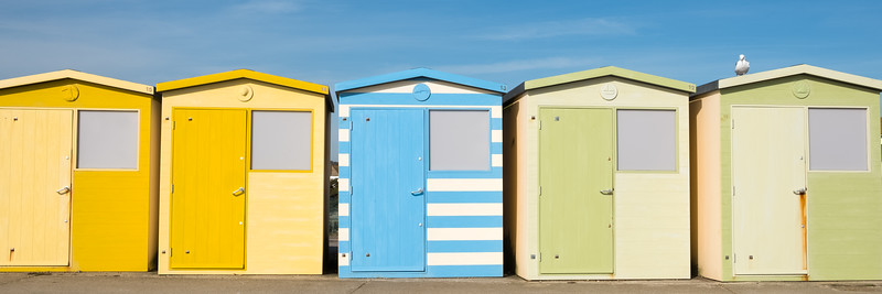 Beach huts waiting for summer