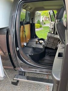 Removal of rear seat in the truck