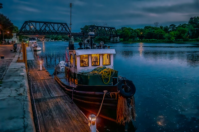 Tug at Night - Color