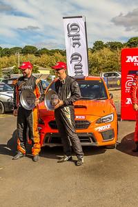Cams Australian Rally Championships Podium Celebrations - ARC- 2rd place - Car No.8 - SteveGlenney & M.Potter - Subaru WRX
