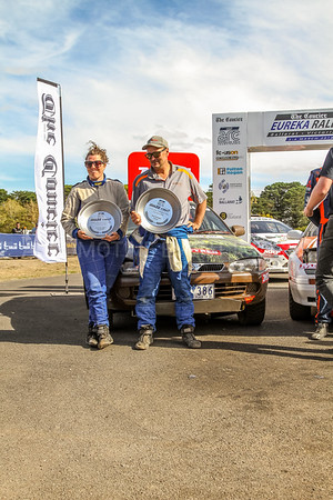 Cams Australian Rally Championships Podium - ARC-Two Wheel Drive Podium 2018- 2rd Place Jason leanne & Amanda Ramia - Pronto Satria 2000