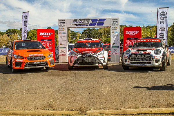 Cams Australian Rally Championships Podium Celebrations - ARC Placegetters