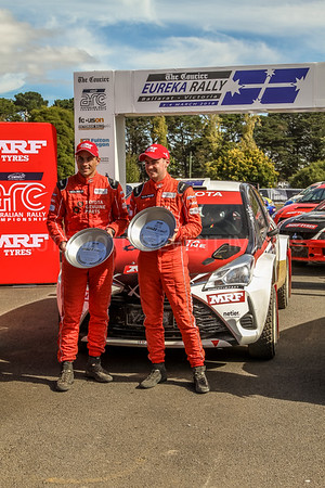 Cams Australian Rally Championships Podium Celebrations - ARC- 1st place - Car No.3 - H.Bates & J.McCarthy - Toyota Yaris