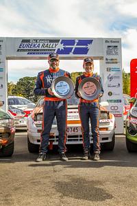 Cams Australian Rally Championships Podium - VRC 2 Wheel Drive - Podium 2018- 1st  Place Adam Caplin & Alesia Penney  Mazda RX7
